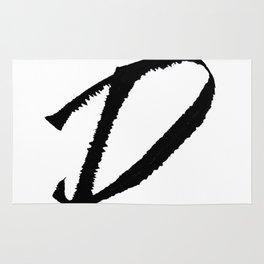 Letter D Ink Monogram Rug