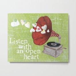 Opean Heart Metal Print