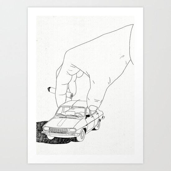 Driving home Art Print