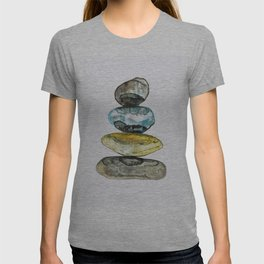 Stones in water colour T-shirt