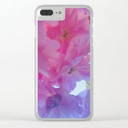 Softly edged flowers Clear iPhone Case