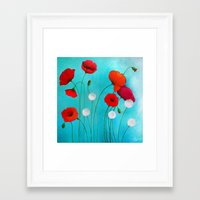 poppies Framed Art Prints featuring Poppies by Sybile Art