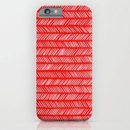 Scarlet Small Herringbone 1 iPhone Case