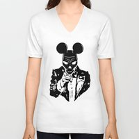 mickey V-neck T-shirts featuring Mickey by Spyck