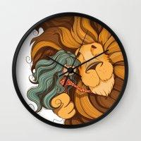 lion Wall Clocks featuring Lion by Tatiana Obukhovich