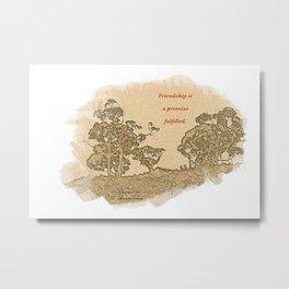 """Trees Of Catalina #2""/Simple Friendship Metal Print"