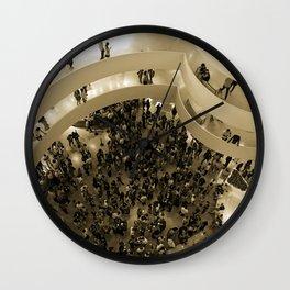 A Pointillist's View of Manhattan Wall Clock