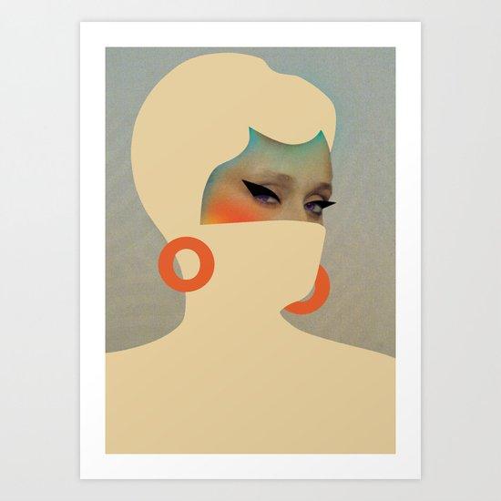 Fine lady # Art Print