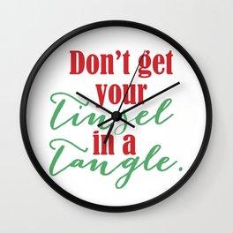 Tinsel in a Tangle. Wall Clock