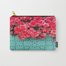 Begonia on Turqoise Carry-All Pouch