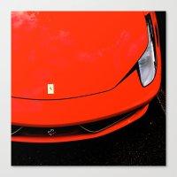 ferrari Canvas Prints featuring Ferrari by Aidan Toole