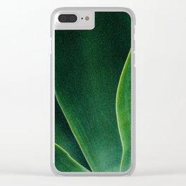 Green Sun Clear iPhone Case