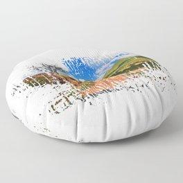 See America The Beautiful American Traveller Floor Pillow