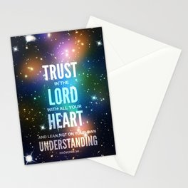 Trust in the Lord. Proverbs 3:5 Stationery Cards