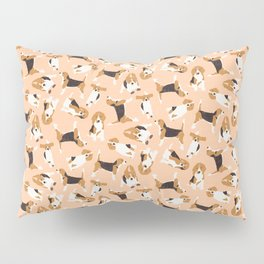 beagle scatter peach Pillow Sham
