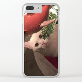 Meowy Christmas 1 Clear iPhone Case
