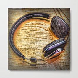 Headphones II Metal Print