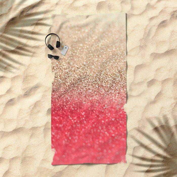 GOLD CORAL Beach Towel