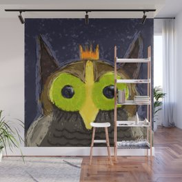 The Kingly Owl - Digital Painting Wall Mural