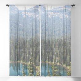 Mount Rainier Summer Adventure VI - Pacific Northwest Mountain Landscape Sheer Curtain