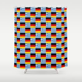 Mix of flag : Germany and greece Shower Curtain