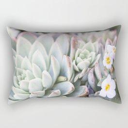 Echeveria 1  //  The Succulent & Cactus Series Rectangular Pillow