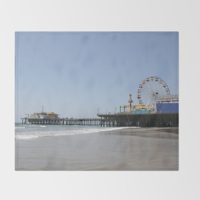 Santa Monica Pier Throw Blanket by Christine aka stine1