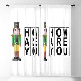 Hay How Are You Christmas Nutcracker Blackout Curtain