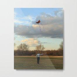 Kite Flyer Metal Print