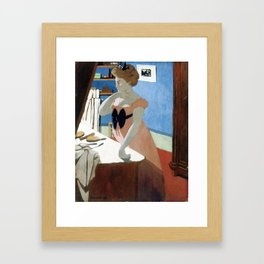 Felix Vallotton -  Misia at Her Dressing Table (new color editing) Framed Art Print