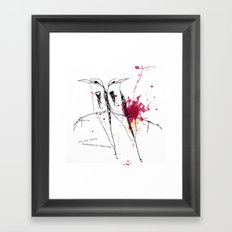 you are worth hundreds of sparrows Framed Art Print