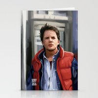 marty mcfly Stationery Cards featuring Marty McFly by Kaysiell