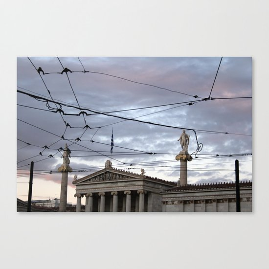 Wired Sky Canvas Print