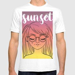 Sunset Girl T-shirt