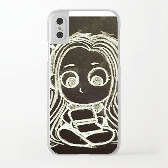 Cute Gamer Girl Clear iPhone Case