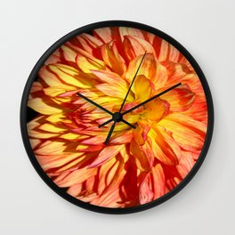Radiant Orange Wall Clock