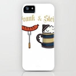 Frank & Stein German Beer Drinking Oktoberfest  Design  iPhone Case
