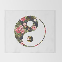 Yin Yang Throw Blanket