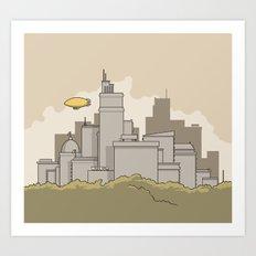 Wilbur's Big City Art Print
