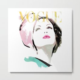 Vogue Fashion Illustration #1 Metal Print