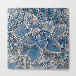 Lace Succulent Metal Print