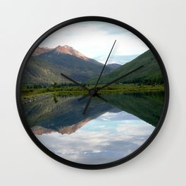 View of the Red Mountains above Ironton Park, from Crystal Lake Wall Clock