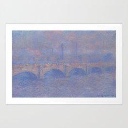Waterloo Bridge Sunlight Effect Art Print