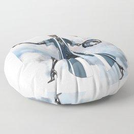 Blue New York City Floor Pillow