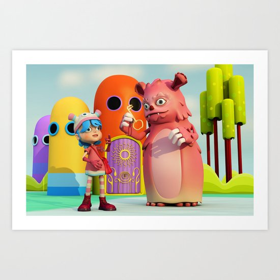 Lilly and Momo Art Print