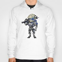 garrus Hoodies featuring Mass Effect 3: Garrus Vakarian Chibi by SushiKitteh'sCreations