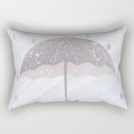 Cure the rain of color Rectangular Pillow