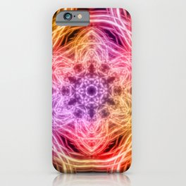 glowing rainbow kaleidoscopes iPhone Case