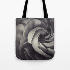 petals in black and white Tote Bag