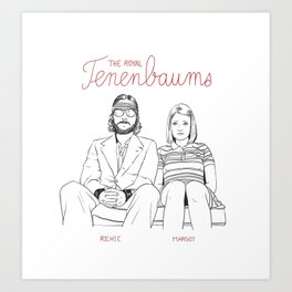 The Royal Tenenbaums (Richie and Margot) Art Print